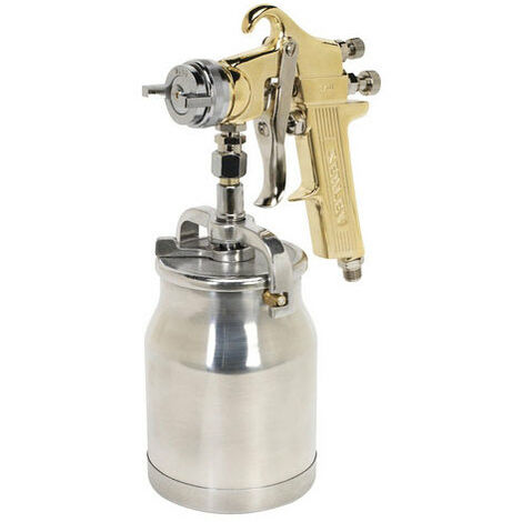 Sealey S701 Gold Series Suction Feed Spray Gun 1.8mm Set-Up