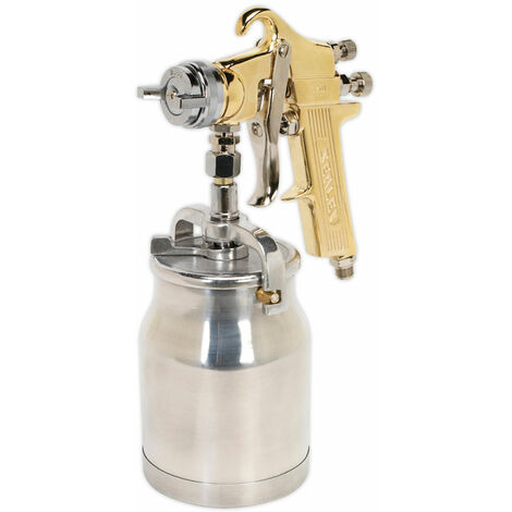 Sealey S701 Spray Gun Professional Gold Series Suction Feed 1.8mm Set-up