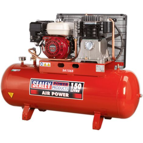 Sealey SA1565 Compressor 150L Belt Drive Petrol Engine 6.5hp