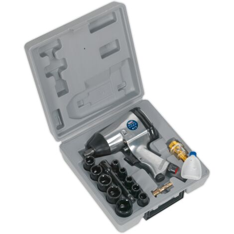 """Sealey SA2/TS Air Impact Wrench Kit with Sockets 1/2""""Sq Drive"""