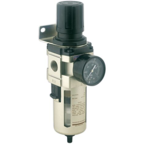 Sealey SA206FRAD Air Filter/Regulator Auto Drain Max Airflow 140cfm