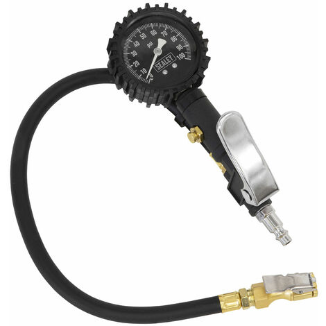 Sealey SA399 Tyre Inflator with Clip-On Connector