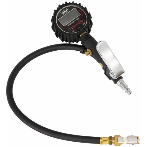 Sealey SA400 Digital Tyre Inflator with Clip-On Connector