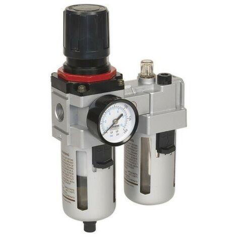Sealey SA4001 Air Filter/Regulator/Lubricator - High Flow