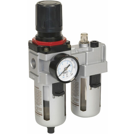 Sealey SA4001 Air Filter/Regulator/Lubricator - High Flow