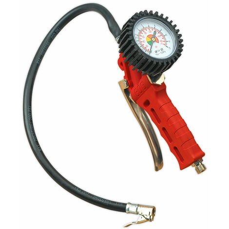Sealey SA9302 Professional Tyre Inflator with Clip-on Connector