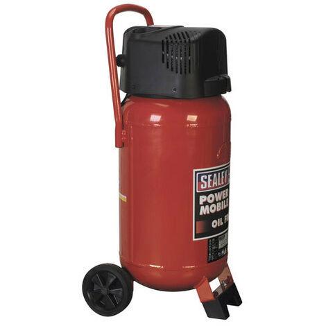 Sealey SAC05020 Air Compressor 50 Litre Oil Free Belt Drive 2 HP