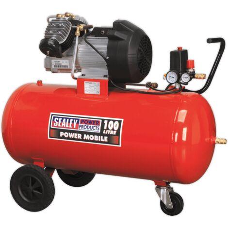 Sealey SAC10030 Compressor 100L V-Twin Direct Drive 3hp