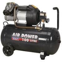 Sealey SAC10030VE Compressor 100ltr V-Twin Direct Drive 3hp