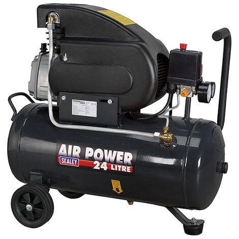 "main image of ""Sealey SAC2420E Compressor 24ltr Direct Drive 2hp - Oiled"""