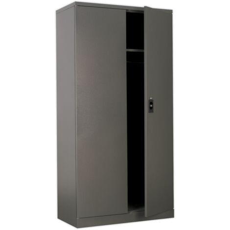 Sealey SC02 Floor Cabinet 4 Shelf plus Hanging Rail 2 Door