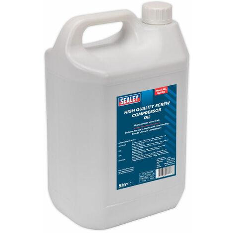 Sealey SCPO5 Screw Compressor Oil 5ltr