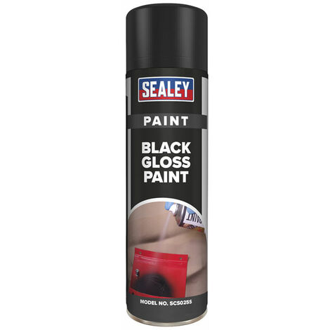 Sealey SCS025S Black Gloss Paint 500ml