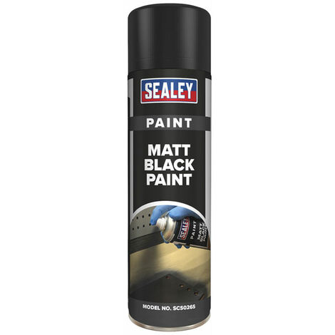 Sealey SCS026S Black Matt Paint 500ml