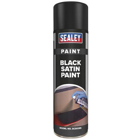 Sealey SCS028S Black Satin Paint 500ml