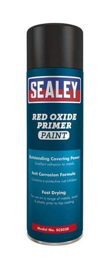 Sealey SCS030 Red Oxide Primer Paint 500ml Pack of 6