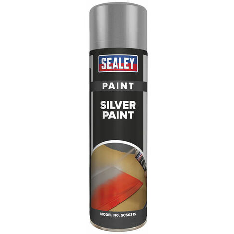 Sealey SCS031S Silver Paint 500ml