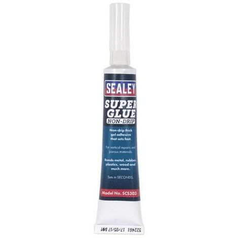 Sealey SCS303 Super Glue Non-Drip Gel 20g Pack of 20
