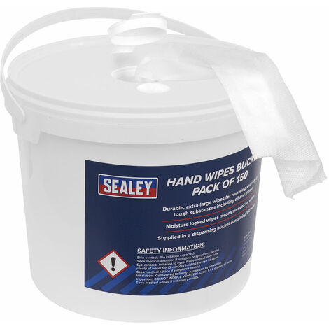 Sealey SCW3 Hand Wipes Bucket 3ltr - Pack Of 150