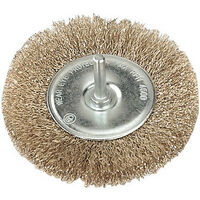 SCB50 Sealey Wire Cup Brush For Power Drills 50mm Diameter With 6mm Shaft
