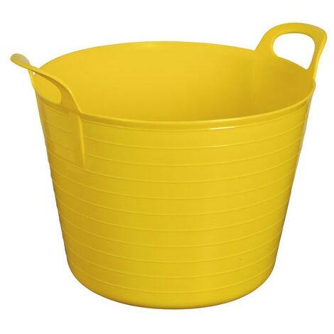 Sealey SFT40Y 40ltr Heavy-Duty Flexi Tub - Yellow