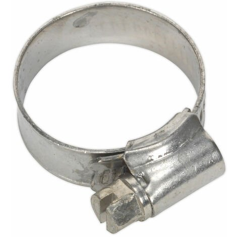 Sealey SHCSS0 Hose Clip Stainless Steel Ø16-27mm Pack of 10