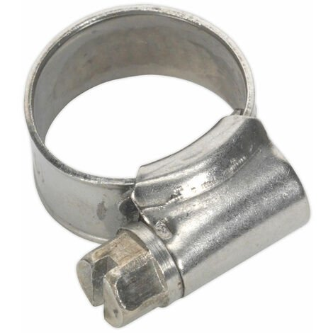 Sealey SHCSS000 Hose Clip Stainless Steel Ø10-16mm Pack of 10