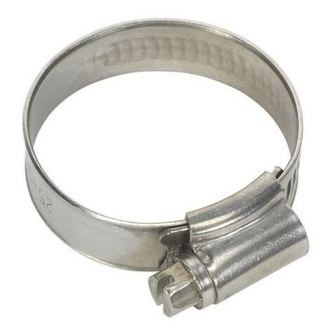 Sealey SHCSS1A Hose Clip Stainless Steel 25-38mm Pack of 10