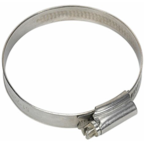 Sealey SHCSS2 Hose Clip Stainless Steel Ø51-70mm Pack of 10