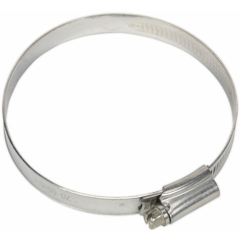 Sealey SHCSS3X Hose Clip Stainless Steel Ø70-89mm Pack of 5
