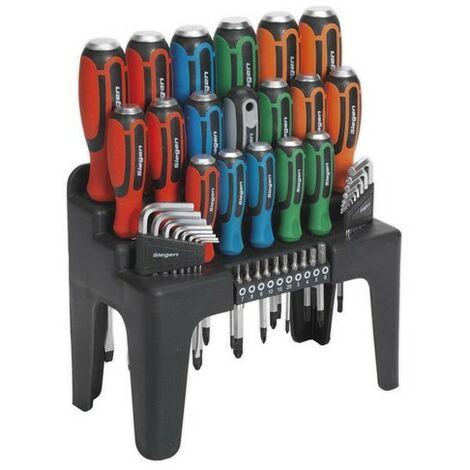 Sealey Siegen S01106 Hammer-Thru Screwdriver, Hex Key & Bit Set 44pc