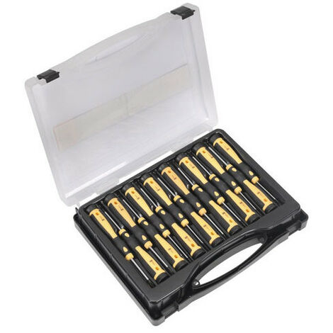 Sealey Siegen S0898 15pc Precision Screwdriver Set