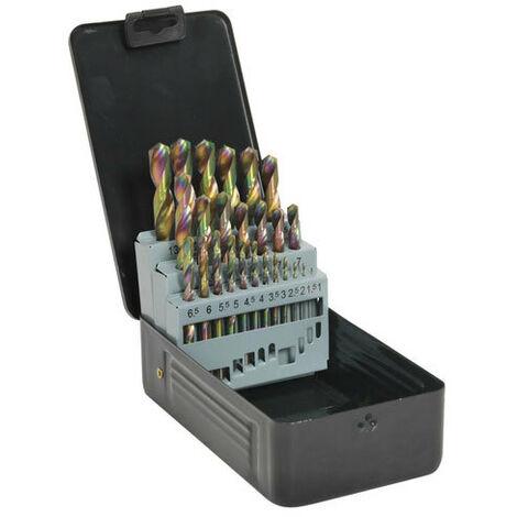 Sealey Siegen S0938 25pc Titanium Coated HSS Drill Bit Set - Metric