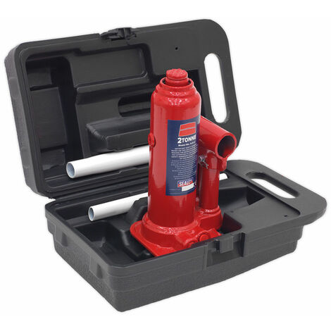 "main image of ""Sealey SJ2BMC Bottle Jack Yankee 2tonne with Carry-case"""