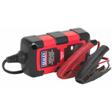 Sealey SMC11 Battery Charger Compact Auto Maintenance 0.8A - 3-Cycle 12V