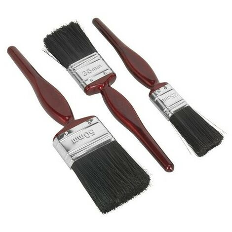 Sealey SPBS3 General Purpose Paint Brush Set 3pc