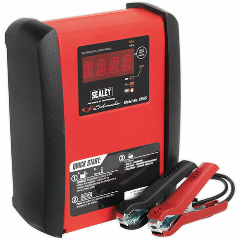 Sealey SPI6S Intelligent Speed Charge Battery Charger 12Amp 6/12V