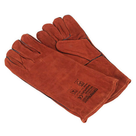 Sealey SSP141 Leather Welding Gauntlets Lined - Pair