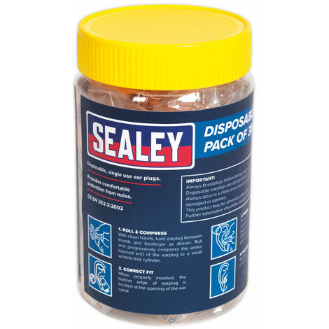 Sealey SSP18D30PK Ear Plugs Disposable Pack of 30 Pairs