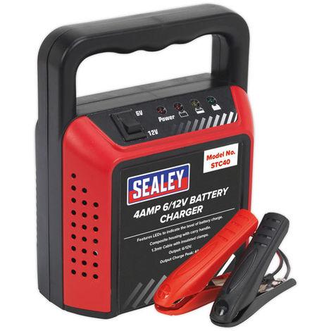 Sealey STC40 Battery Charger 6/12V 4Amp 230V