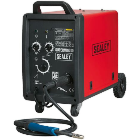 Sealey SUPERMIG200 Professional MIG Welder 200Amp 230V with Binzel Euro Torch