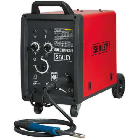 Sealey SUPERMIG230 Professional MIG Welder 230Amp 230V with Binzel?? Euro Torch