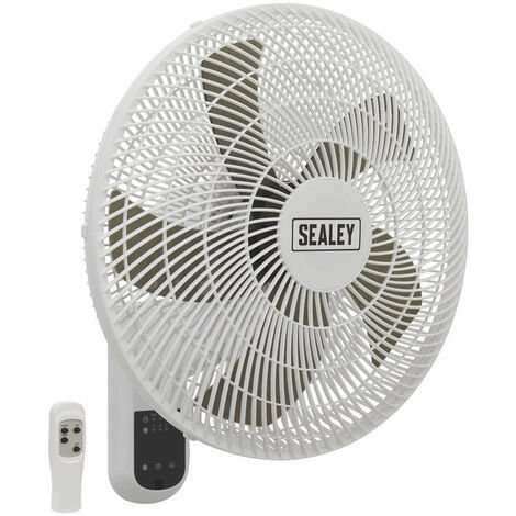 Sealey SWF16WR Wall Fan 3-Speed 16in. with Remote Control 230V