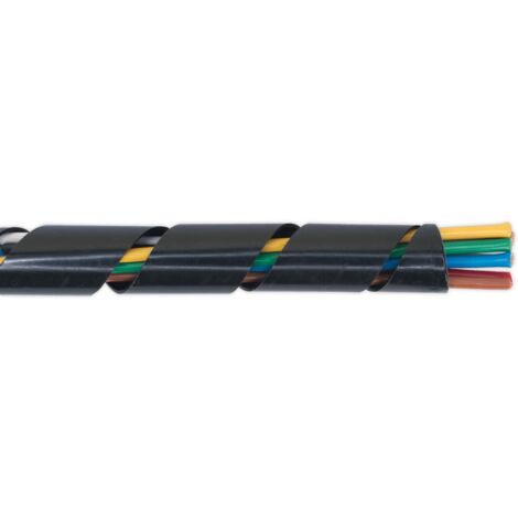 Sealey SWS1428 Spiral Wrap Cable Sleeving ??14-28mm 10m