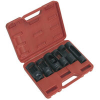 "Sealey SX0401 6pc 1/2""Sq Drive Diesel Injector Window Socket Set"