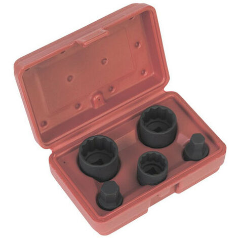 "Sealey AK219 42 Piece 3//8/"" /& 1//2/"" Sq Dr Torx//Star//Hex//Spline Socket Adaptor Set"