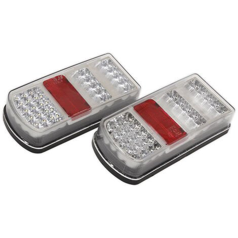 Sealey TB19LED Rear Rectangle Lamp Cluster (Pair) LED 12V