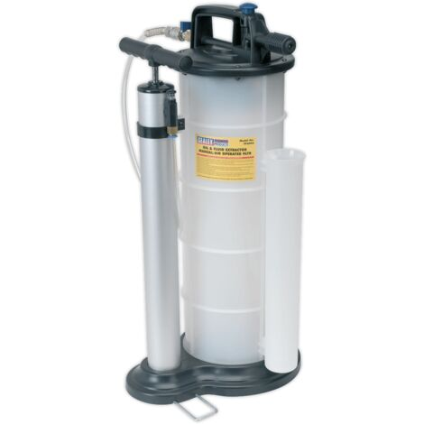Sealey TP6904 Vacuum Oil & Fluid Extractor Manual/Air 9L