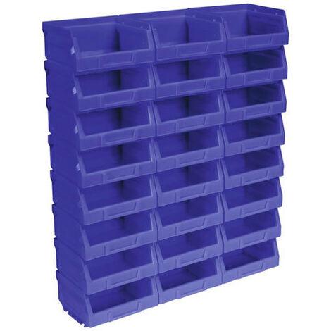 Sealey TPS124B Plastic Storage Bin 103 x 85 x 53mm - Blue Pack of 24