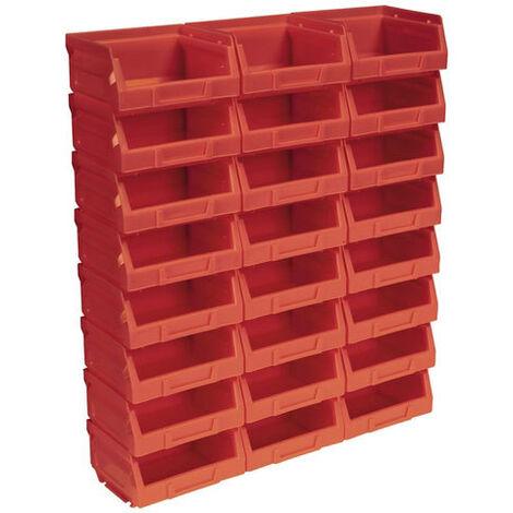Sealey TPS124R Plastic Storage Bin 103 x 85 x 53mm - Red Pack of 24